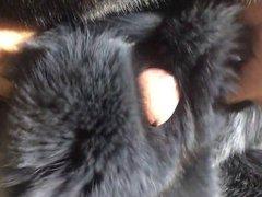 Fox fur vidz masturbation and  super cum on fur - fur fetish - fur sex
