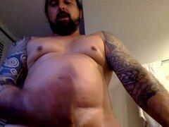 Chubby Inked vidz Str8 Guy  super cums fast on cam #13