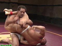 Ripped wrestling vidz jock deepthroats  super hunks cock