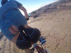 Butt plug vidz bike ride
