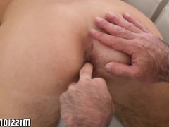 Shy twink vidz fucked by  super bearded older guy until reaching climax