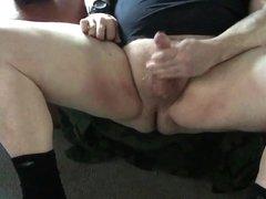 Big ass vidz and chubby  super thighs spread while I cum.