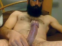 Bearded Str8 vidz Daddy cums  super on cam #66