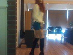 Same skirt vidz with boots