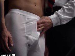 Mormon elder vidz watches as  super a young mormon takes it in the ass