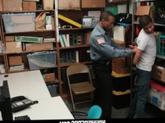 YoungPerps - vidz Repeat shoplifter  super gets tied up and fucked by an angry mallcop