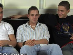 Threesome jerking vidz with Trevin  super Nills Michael Lee and Ty Sloan