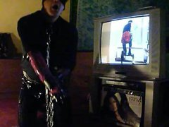 PUNK SLAVE vidz GIRL SASKIA  super PLAYS GOLF