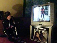 PUNK SLAVE vidz GIRL SASKIA  super PLAYS HOCKEY