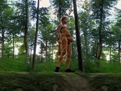 0065 Video vidz montage giraffe  super Body painting naked outdoor 4all