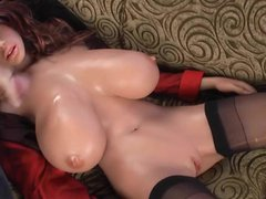Cumming on vidz huge rubber  super real doll tits