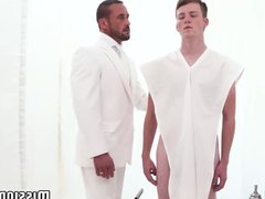Cute young vidz Mormon rammed  super raw and creampied by handsome elder