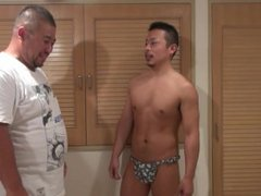 Japanese bear vidz and muscle  super guy oral job and hand job
