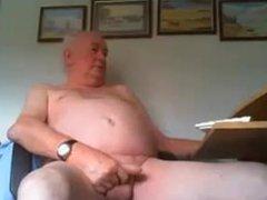 British dad vidz stroking nice  super uncut cock on cam