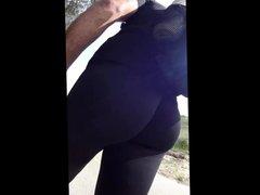 walking in vidz tight spandex  super in public