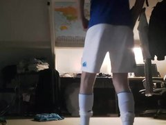 Sexy twink vidz shaking ass  super in soccer kit