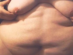FAT Belly vidz & Boobs  super - Moobs Play. Saggy Fatty Tits