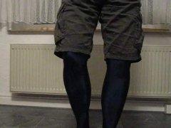 Lycra-Strumphose mit vidz kurzer Hose