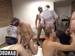 Masked gay vidz men having  super a mysterious dick sucking orgy
