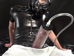 Horny Cock vidz Pumping in  super Fetish Outfit