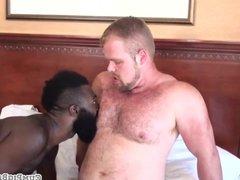 Rimmed black vidz stud barebacked  super in threesome