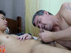 Raw barebacking vidz with older  super daddy and cute Asian twink