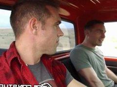 Cute College vidz Boy Blows  super Hot Daddy Alex Mecum In Pickup Truck