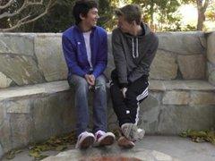 8teenBoy newcomer vidz Ethan Helms  super takes big dick twink Jared Scott bareback