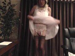 Aunt Michelle: vidz White Chiffon  super Dress