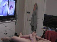 Teen with vidz big cock  super in panties wanking to nudes + fleshlight