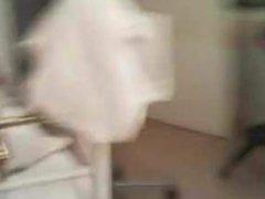 Buttplug in vidz white lingerie