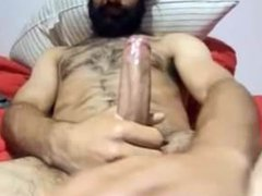 Hairy Str8 vidz Guy with  super Bigcock Busts a Nut #160