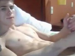 Blonde gay vidz jerks on  super cam