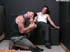 Perverted gay vidz dude Kent  super goes down on Jack Francos feet