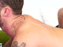 Bearded hunks vidz sucking and  super ass fucking in hairy threesome