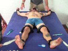 Bearded and vidz tattooed hunk  super gets a sweet tickling by his buds