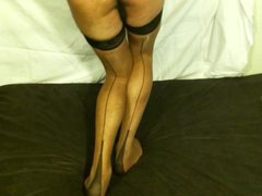 Cd show vidz new outfit  super with nylon stockings and slip