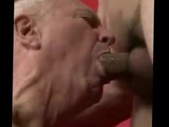 Old senior vidz grandpa sucking  super a young boy