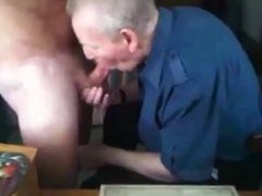Senior grandpa vidz sucking a  super nice cock