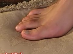 Jake loves vidz to sniff  super his socks and showing his feet