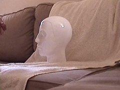 Headshot cumming vidz on object  super stone head big load