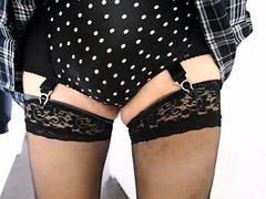 Plaid Skirt vidz Stockings and  super Tights
