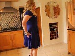 Blue 'fit vidz and flare'  super swing dress