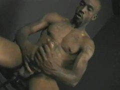 hot black vidz guy jerking  super his monster black cock