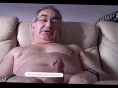spanish grandpa vidz show how  super to wank