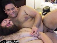 Big beard vidz otter blowing  super cock during bear threesome