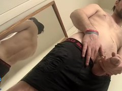 Hunky straight vidz dude tugging  super until he squirts out cum