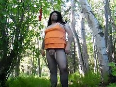 Crossdresser Exhibitionist vidz in the  super Woods