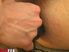Young homo vidz pleasures lovers  super tight ass with beads and dildo