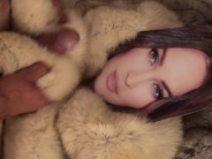 Playing with vidz Megan Fox  super in fur